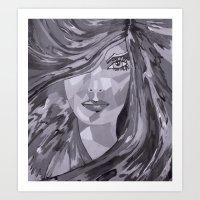plain Art Prints featuring Plain Jane by Sartoris ART