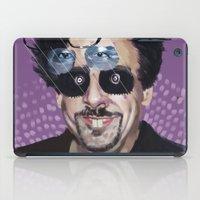 tim burton iPad Cases featuring Tim Burton by Pazu Cheng