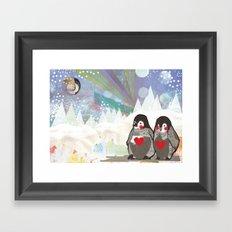 Baby Penguins Framed Art Print