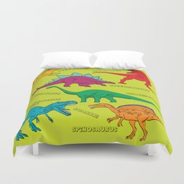 Dinosaur Print - Colors Duvet Cover
