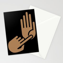 Ann Arbor Michigan Hand Map Stationery Cards