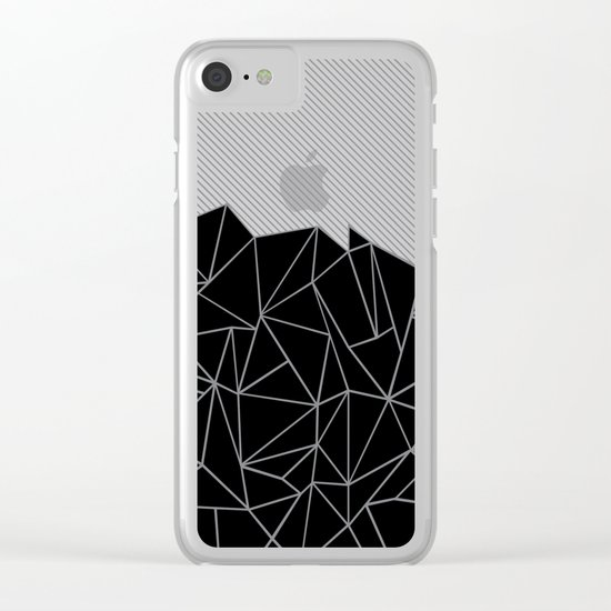 Ab Lines 45 Grey and Black Clear iPhone Case