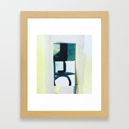 Watercolour collage Framed Art Print