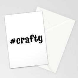 #crafty Stationery Cards