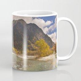 Azusa River and Autumn colours in Kamikochi, Japan Coffee Mug