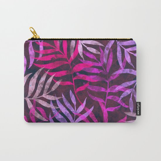 Watercolor Tropical Palm Leaves VI Carry-All Pouch