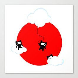 Ninja cats in the sky (Japanese edition) Canvas Print