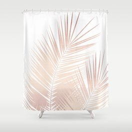 Rose Gold Palm Leaves Dream - Cali Summer Vibes #1 #tropical #decor #art #society6 Shower Curtain