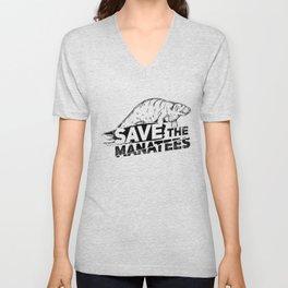Save The Manatees II - Nature & Wildlife Gift Unisex V-Neck
