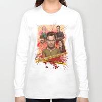 dexter Long Sleeve T-shirts featuring Dexter by Nithin Rao Kumblekar