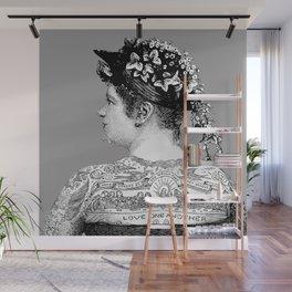 Tattooed Victorian Woman | Tattooed Woman | Vintage Tattoos | Victorian Tattoos | Victorian Gothic | Wall Mural