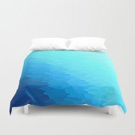 Turquoise Blue Texture Ombre Duvet Cover