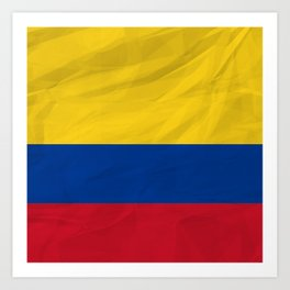 Colombia - South America flags Art Print