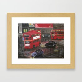 Evening in Piccadilly, London Framed Art Print