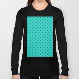 Teal on Turquoise Stars Long Sleeve T-shirt