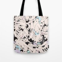 cosmos Tote Bags featuring Cosmos by Studio Anemone