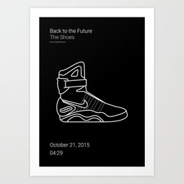 The Shoes BTTF Art Print