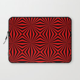 Red Black Dizzy Abstract Pattern Laptop Sleeve