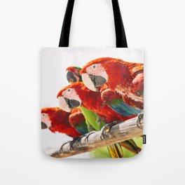Red macaws Tote Bag