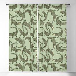 Crocodiles (Camo Palette) Blackout Curtain