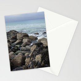 Waves Crashing on Seaweed Covered Rocks Stationery Cards