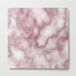 Pink Marbel Metal Print