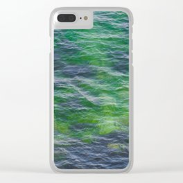 Sea surface pattern Clear iPhone Case