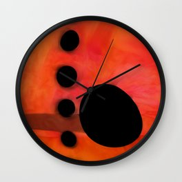 """Abstract city sunset"" Wall Clock"