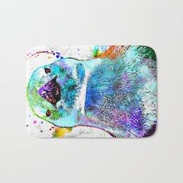 Penguin Watercolor Grunge Bath Mat