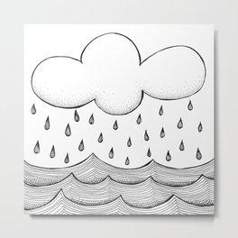 rain and waves Metal Print