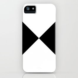 Black & White Triangles iPhone Case