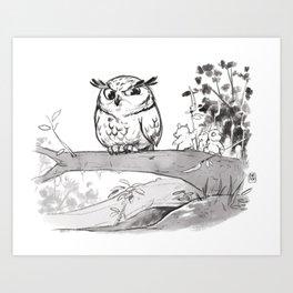 Advices of the big owl Art Print
