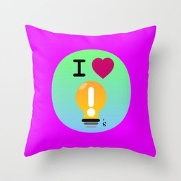 I Love Ideas Throw Pillow
