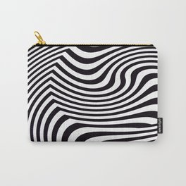 Black and White Pop Art Optical Illusion Carry-All Pouch
