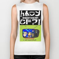 cowboy bebop Biker Tanks featuring Don't Chug Soy Sauce - Chuggalo Bebop by How Much Can You Chug Foo?!