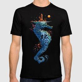 dream in blue T-shirt