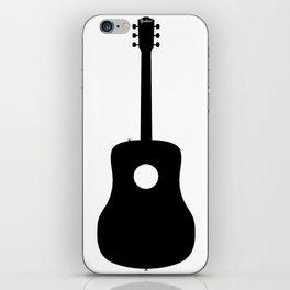 Acoustic Guitar Silhouette iPhone Skin