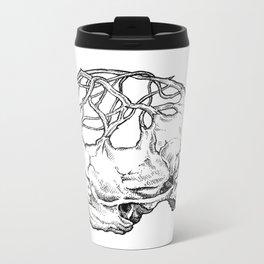Tree Skull Metal Travel Mug