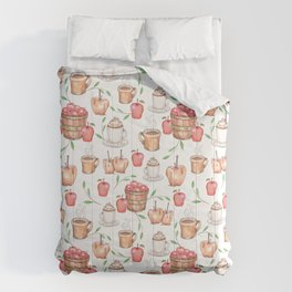 Autumn Apples -Caramel Apples -Cappuccino -Apple Cider Food Pattern Comforters