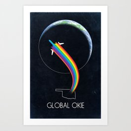 Global Okie 'Planetary Journey' Art Print