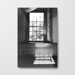 Sunlit Bench at Independence Hall - travel photography Metal Print