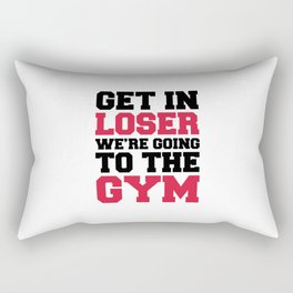 Going To The Gym Quote Rectangular Pillow