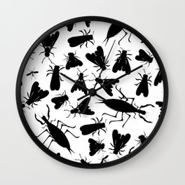 Insect seamless pattern Wall Clock