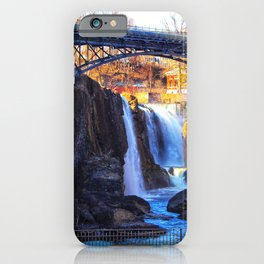 Waterfall at Paterson Great Falls National Historical Park iPhone Case