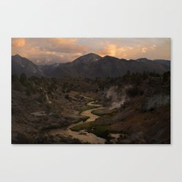Hot Creek Sunset in the Sierras Canvas Print