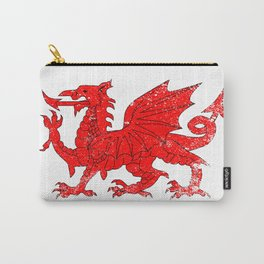 Welsh Dragon With Grunge Carry-All Pouch