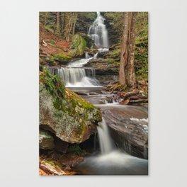 Ricketts Glen Waterfall Layers Canvas Print