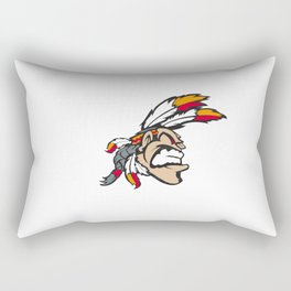 American indian man. Mascot. Kentucky. Rectangular Pillow