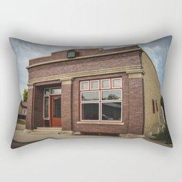 Former Bank, Kathryn, North Dakota Rectangular Pillow