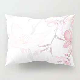 pink cherry blossom macro 2018 Pillow Sham